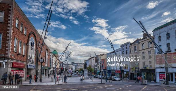 cork. st. patrick's street - cork city stock pictures, royalty-free photos & images