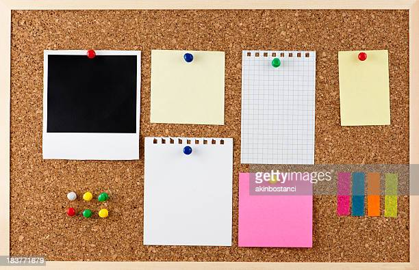 Corkboard and note papers