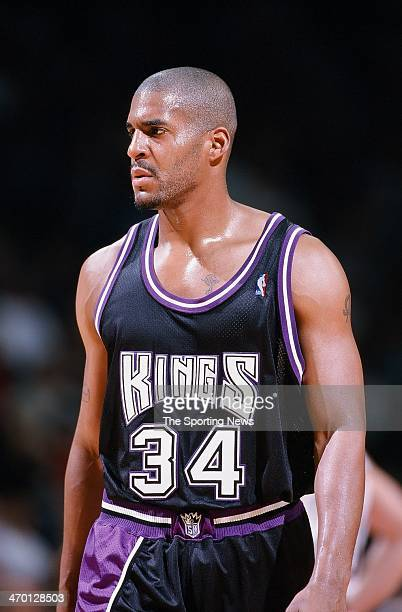 Corliss Williamson of the Sacramento Kings during the game against the Houston Rockets on February 10 1999 at Compaq Center in Houston Texas