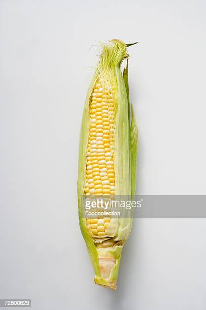 corn cob with husks - corn on the cob stock pictures, royalty-free photos & images