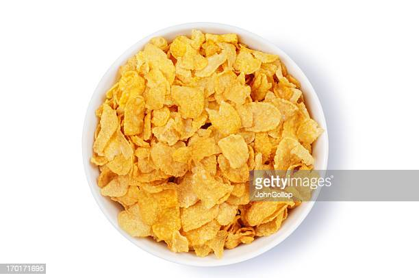 corn flakes - bowl stock pictures, royalty-free photos & images