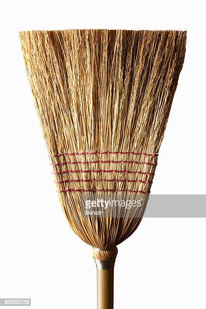 corn husk sweeping broom - broom stock pictures, royalty-free photos & images