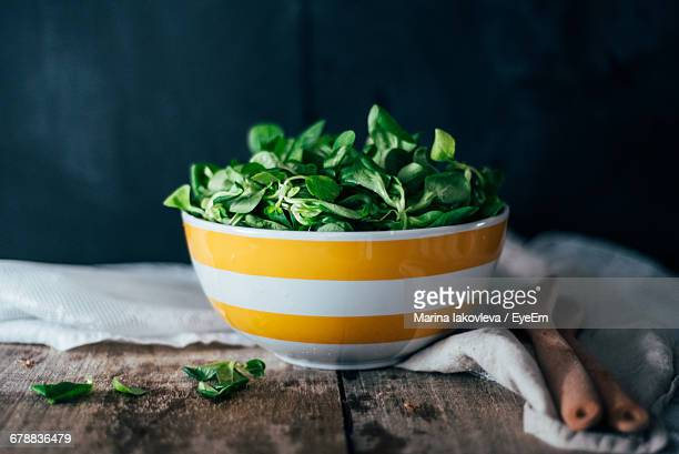 Corn Salad Leaves In A Bowl