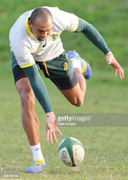 Cornal Hendricks during the South African National rugby team training session at Blackrock College RFC on November 05 2014 in Dublin Ireland