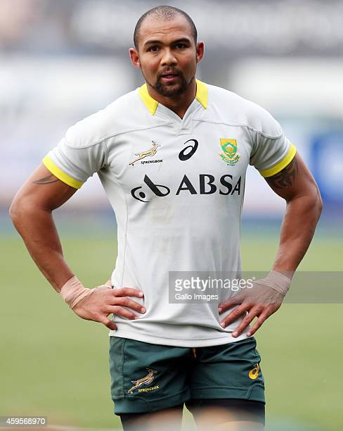 Cornal Hendricks during the South African national rugby team training session at Cardiff Arms Park on November 25 2014 in Cardiff Wales
