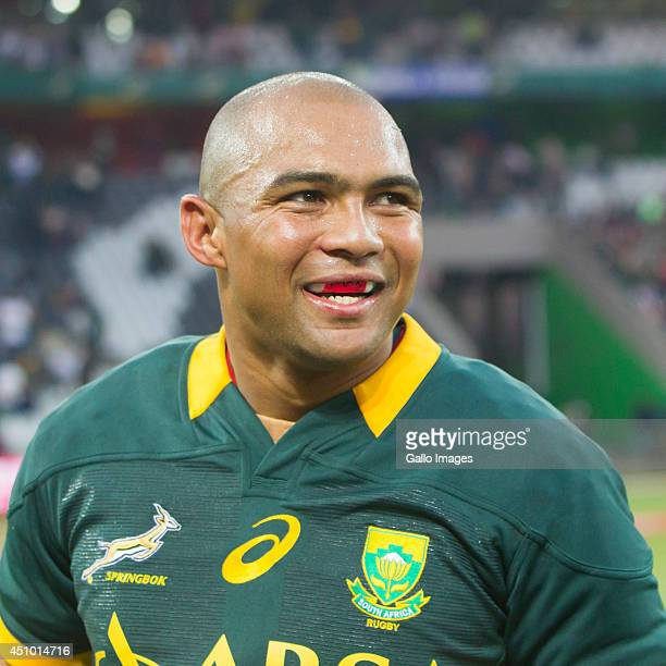 Cornal Hendricks of South Africa after the 2nd test match between South Africa and Wales at Mbombela Stadium on June 21 2014 in Nelspruit South Africa