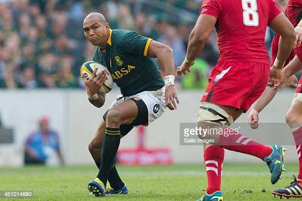 Cornal Hendricks of South Africa during the 2nd test match between South Africa and Wales at Mbombela Stadium on June 21 2014 in Nelspruit South...