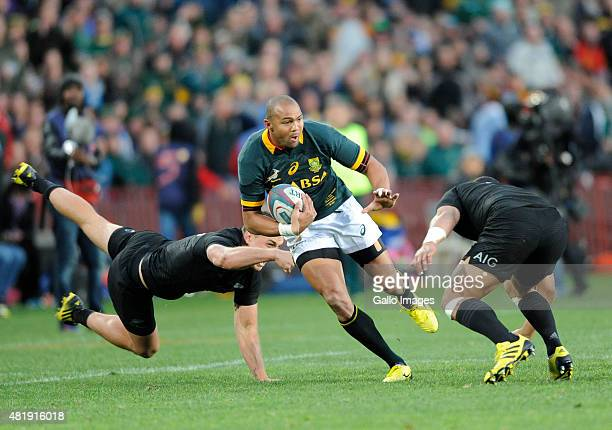 Cornal Hendricks of South Africa during The Castle Lager Rugby Championship 2015 match between South Africa and New Zealand at Emirates Airline Park...