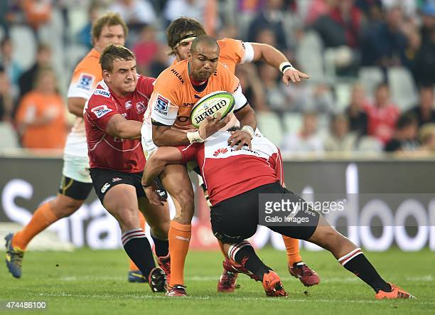 Cornal Hendricks of the Cheetahs during the Super Rugby match between Toyota Cheetahs and Emirates Lions at Free State Stadium on May 23 2015 in...