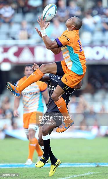 Cornal Hendricks of the Toyota Cheetahs during the Super Rugby match between Cell C Sharks and Toyota Cheetahs at Growthpoint Kings Park on April 19...