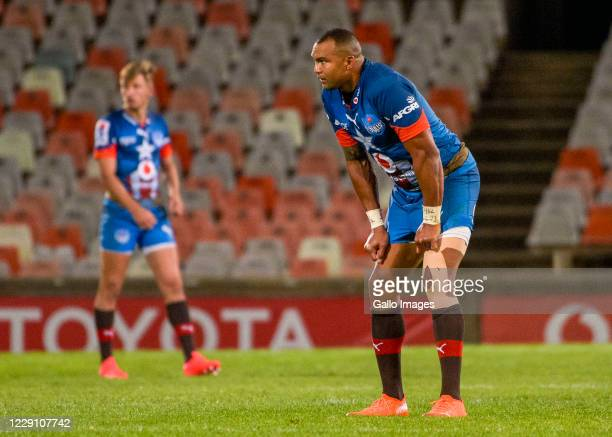 Cornal Hendricks of Vodacom Bulls during the Super Rugby Unlocked match between the Toyota Cheetahs and Vodacom Bulls at Toyota Stadium on October 16...
