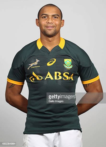 Cornal Hendricks poses for a photo during the South African national rugby team photocall session on May 31 2014 in Johannesburg South Africa