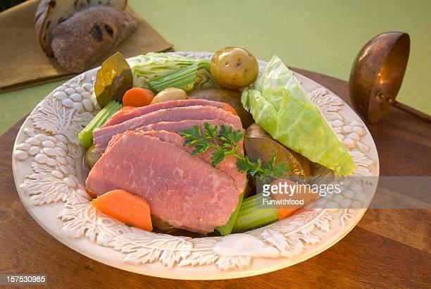 Corned Beef Brisket Dinner & Vegetable St. Patrick's Day Irish Food