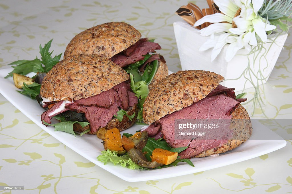 Corned beef roll : Stock Photo