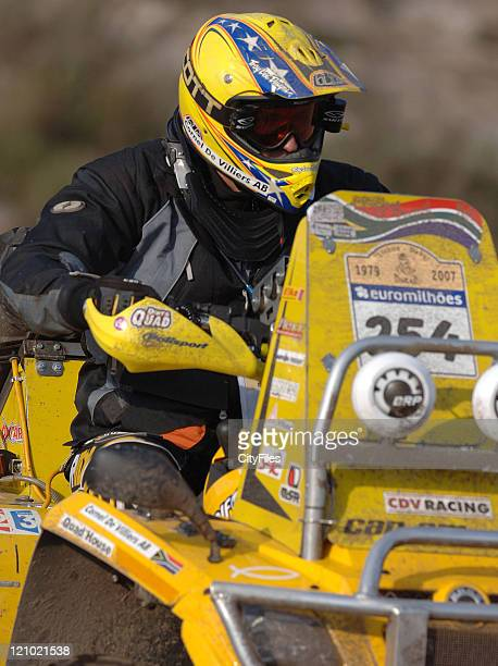 Cornel de Villiers Can Am Outlander 800 during day 2 the 29th LisbonDakar Rally in Comporta Portugal on January 7 2007