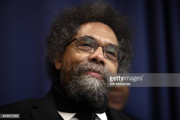 Cornel West professor of philosophy at Union Theological Seminary speaks at the National Press Club February 21 2017 in Washington DC West and other...