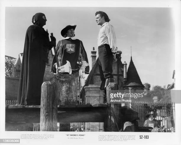 Cornel Wilde and others in a scene from the film 'At Sword's Point' 1952