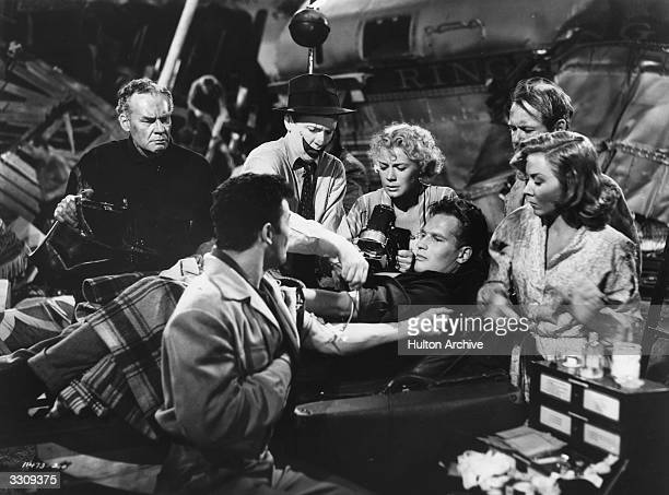Cornel Wilde Betty Hutton Charlton Heston Gloria Grahame and James Stewart star in the film 'The Greatest Show On Earth' directed by Cecil B DeMille