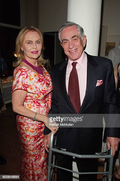 Cornelia Bregman and Marty Bregman attend Alzheimer's Assoc Rita Hayworth Gala Cocktail reception hosted by Naeem and Ranjana Khan with Princess...