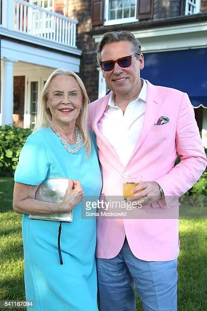 Cornelia Bregman and Scott Nelson attend Midsummer Night Drinks to benefit God's Love We Deliver