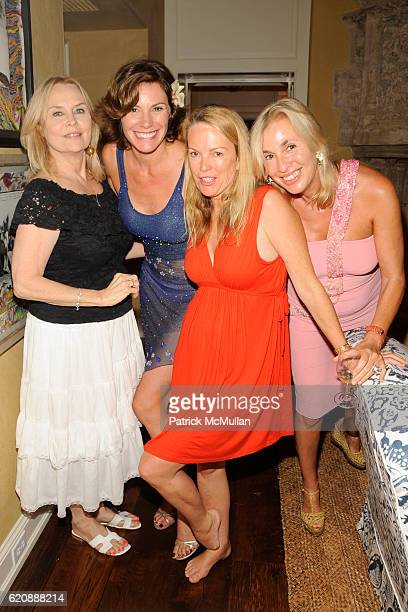 Cornelia Bregman, Countess Luann deLesseps, Anne Hearst and Robin Baker Leacock attend BEST BUDDIES HAMPTONS BASH at Watermill on August 14, 2008.