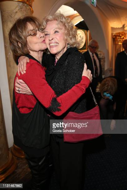 Cornelia Conny Froboess and Bibi Johns during the celebration of Peter Kraus' 80th birthday at Schuhbecks Suedtiroler Stuben on March 18 2019 in...