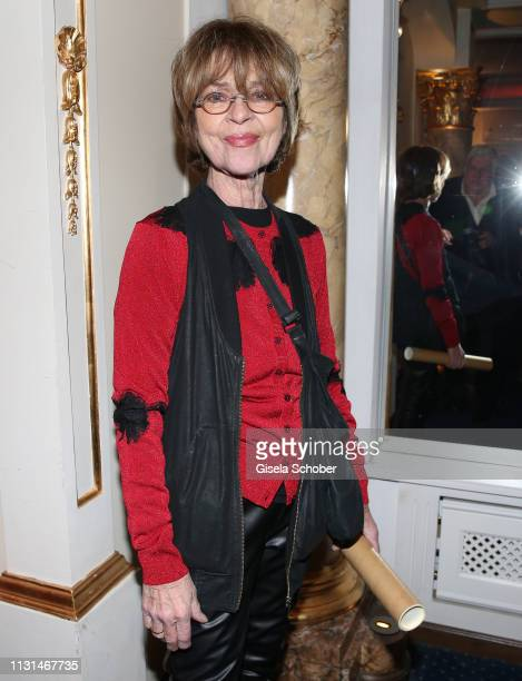 Cornelia Conny Froboess during the celebration of Peter Kraus' 80th birthday at Schuhbecks Suedtiroler Stuben on March 18 2019 in Munich Germany