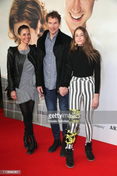 Cornelia Conny Lehmann Jens Lehmann Lieselotta Lehmann during the premiere of the film Trautmann at Mathaeser Filmpalast on March 4 2019 in Munich...