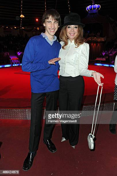 Cornelia Corba and her son Benjamin attend the Circus Krone Show Premiere at Circus Krone on February 1 2014 in Munich Germany