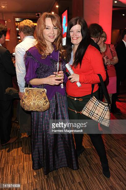 Cornelia Corba and Suzanne Landsfried attend the CNN Journalist Award 2012 at the GOP Variete Theater on March 27, 2012 in Munich, Germany.