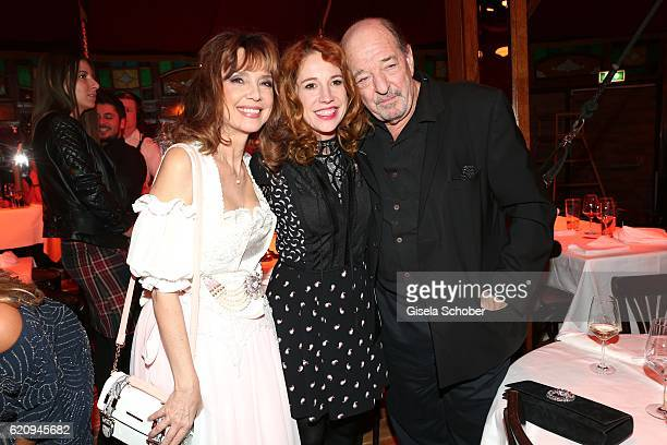 Cornelia Corba Ralph Siegel and his girlfriend Laura Kaefer during the VIP premiere of Schubeck's Teatro at Spiegelzelt on November 3 2016 in Munich...