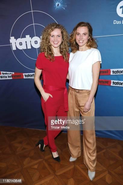 Cornelia Groeschel and Karin Hanczewski attend the 'Tatort Das Nest' photo call on March 12 2019 in Hamburg Germany