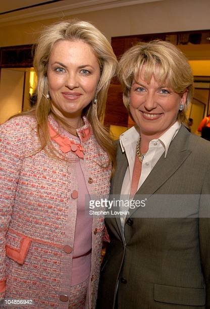 Cornelia Guest and Felicia Taylor during Philip Treacy Shows His Spring 2003 Hat Collection at Bergdorf's at Bergdorf Goodman in New York City NY...