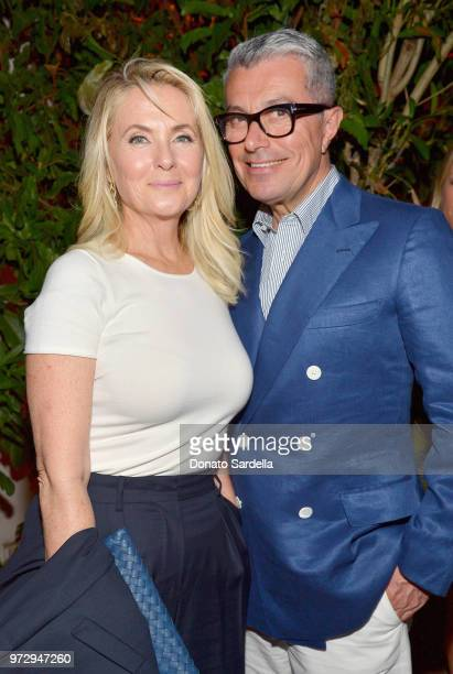 Cornelia Guest and Giorgio Guidotti attend the Max Mara Celebration for Alexandra Shipp 2018 Women In Film Max Mara Face Of The Future Award...
