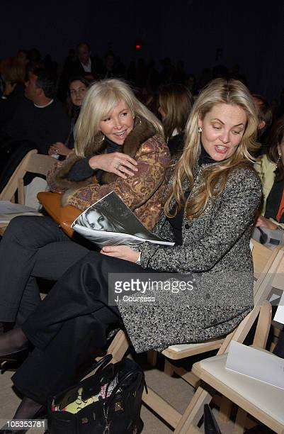 Cornelia Guest and guest during Olympus Fashion Week Fall 2004 Badgley Mischka Front Row and Backstage at The Promenade at Bryant Park in New York...