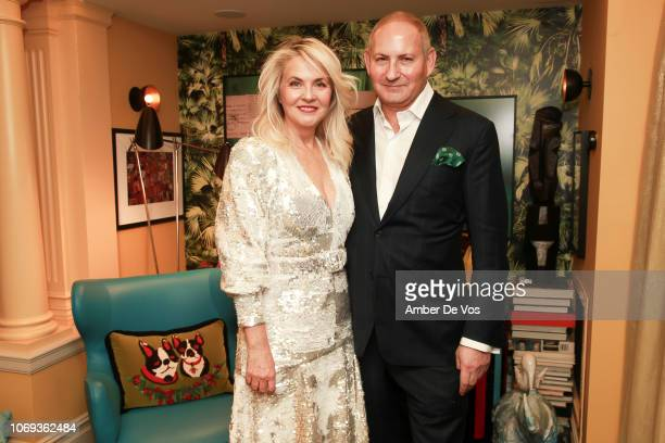 Cornelia Guest and John Demsey attend a Holiday Fete hosted by Cornelia Guest And John Demsey at a Private Residence on November 6, 2018 in New York...