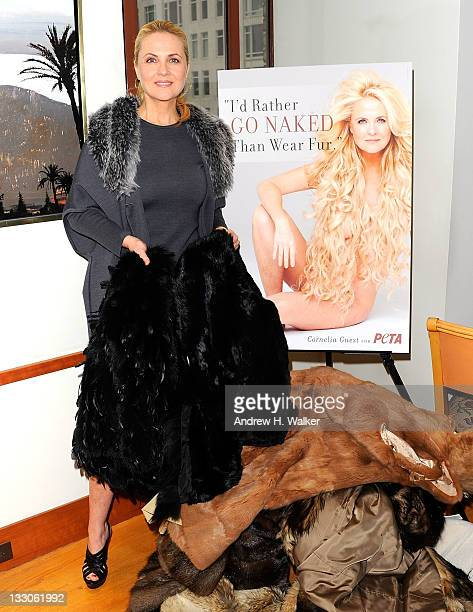 Cornelia Guest attends the I'd Rather Go Naked Than Wear Fur PETA launch birthday celebration at 25 Central Park West on November 16 2011 in New York...