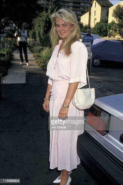 Cornelia Guest during Cornelia Guest At Spago's Restaurant at Spago's in Los Angeles California United States
