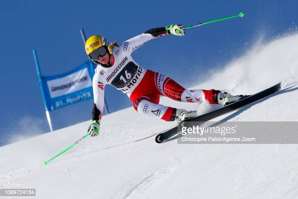 Cornelia Huetter of Austria competes during the Audi FIS Alpine Ski World Cup Women's Super G on December 8 2018 in St Moritz Switzerland