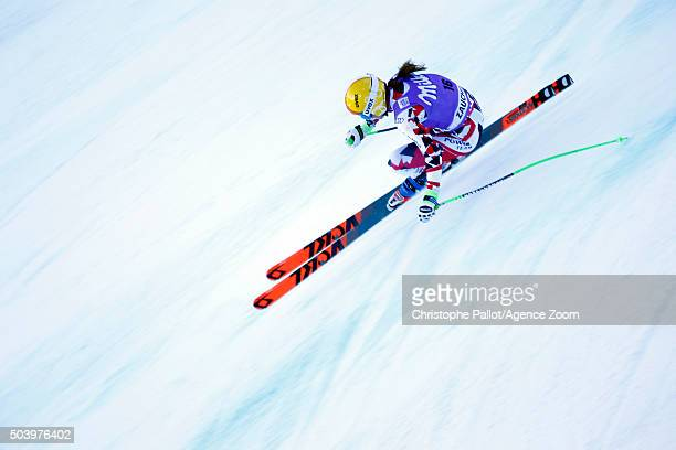 Cornelia Huetter of Austria competes during the Audi FIS Alpine Ski World Cup Women's Downhill Training on January 08 2016 in AltenmarktZauchensee...