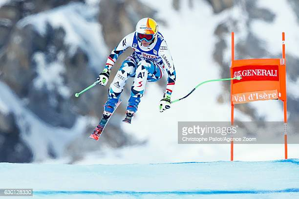 Cornelia Huetter of Austria competes during the Audi FIS Alpine Ski World Cup Women's Downhill on December 17 2016 in Vald'Isere France