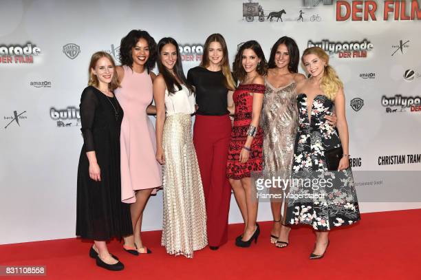 Cornelia Ivancan Jane Chirwa Denise Balaz Laura Berlin Jasmin Lord Desiree Balaz and Jeanne Goursaud during 'Bullyparade Der Film' premiere at...