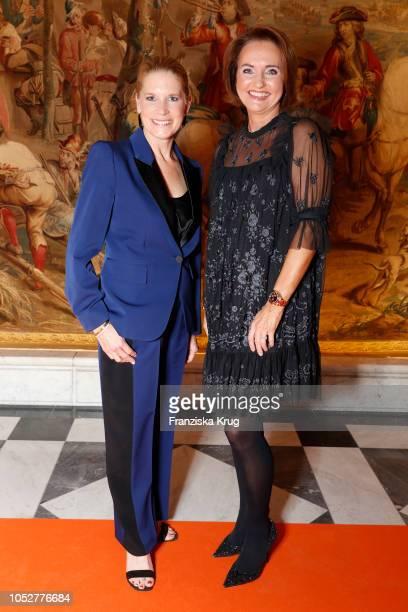 Cornelia Poletto and Anita Freitag-Meyer during the 'Die Europa' award to women entrepreneurs hosted by the Club of European female entrepreneurs at...