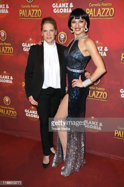 Cornelia Poletto and Ariana Savalas at the Polettos Palazzo at Spiegelpalast on November 15, 2019 in Hamburg, Germany.