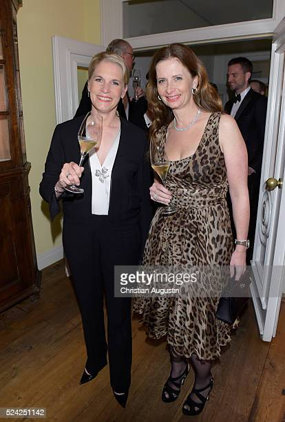 Cornelia Poletto and Christa Wuensche attend the 'Champagnepreis fuer Lebensfreude' at Hotel Louis C Jacob on April 25, 2016 in Hamburg, Germany.