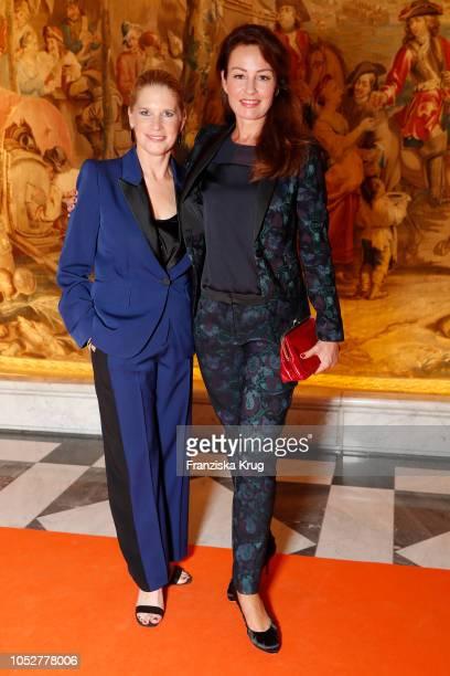 Cornelia Poletto and Sabrina Staubitz during the 'Die Europa' award to women entrepreneurs hosted by the Club of European female entrepreneurs at...