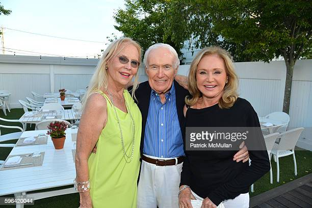 Cornelia Sharpe Bregman and Guests attend NYC Mission Society Cocktails and Conversations in Southampton at OREYA Hamptons on August 25, 2016 in...