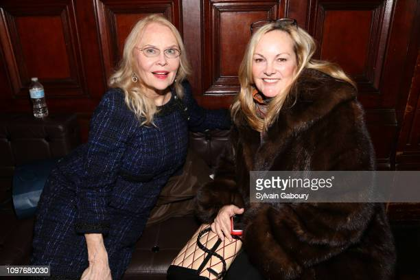 Cornelia Sharpe Bregman and Patricia Hearst Shaw attend a celebration of the life of Mario Buatta at Park Avenue Armory on January 21 2019 in New...