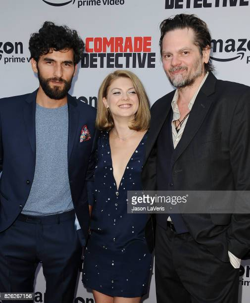 """Corneliu Ulici, Olivia Nita and Florin Piersic Jr. Attend the premiere of """"Comrade Detective"""" at ArcLight Hollywood on August 3, 2017 in Hollywood,..."""