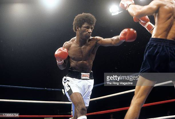 Cornelius BozaEdwards throws a punch against Alexis Arguello during the fight at the Superstar Theatre in Atlantic City New Jersey Alexis Arguello...